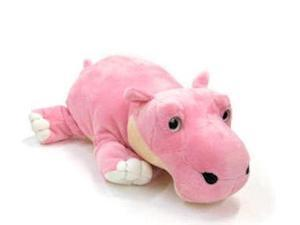"""Floppy Sweet Eyes Pink Hippo 12"""" by Wish Pets"""