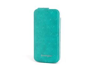 Kensington Portafolio Teal Ostrich Solid Flip Wallet for iPhone 5 K39609WW