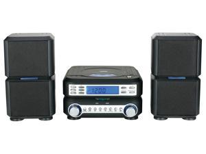 Naxa NS-438 Digital CD Micro System with AM/FM Radio Vertical Loading CD Player and Analog Tuning