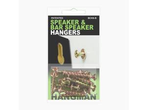 HANGMAN Speaker and Bar Speaker Hangers - 6 PACK (BCK6-B)
