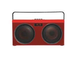 Supersonic Wireless Party Bluetooth® Portable with Speaker FM (SC-1407BT) Red