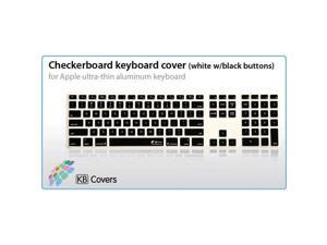 KB Covers Checkerboard (White w/ Black Buttons) Keyboard Cover for Apple Ultra-Thin Keyboard w/ Num Pad (CB-AK-WB)