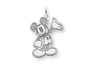 Disney's Large Waving Mickey Charm in Sterling Silver