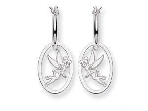 Disney's Tinker Bell Hoop Earrings in Sterling Silver