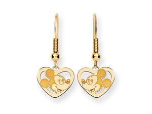 Disney's Mickey Mouse Heart Earrings in 14 Karat Gold