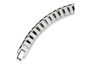 Tungsten Polished Link 8.75 Inch Bracelet