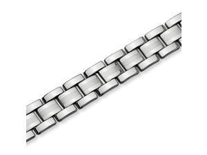 Tungsten Brushed and Polished Link 8.25 Inch Bracelet
