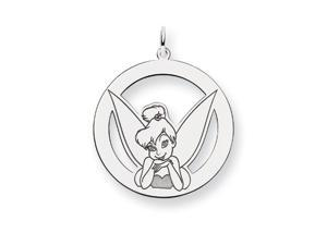 Disney's Tinker Bell Circle Charm in Sterling Silver