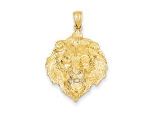 Large Lion's Head Pendant in 14 Karat Yellow Gold