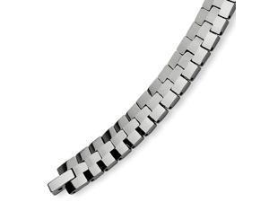 Tungsten Polished Link 8.5 Inch Bracelet