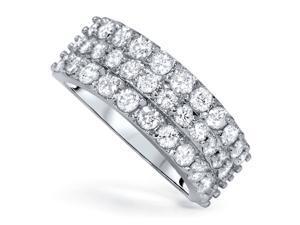 1 3/4ct Diamond Wedding Ring 14K White Gold