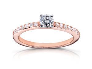 1/2ct Diamond Engagement Ring 14K Rose Gold