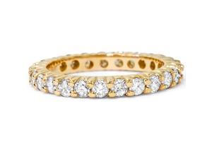 1ct Diamond Eternity Ring 14K Yellow Gold