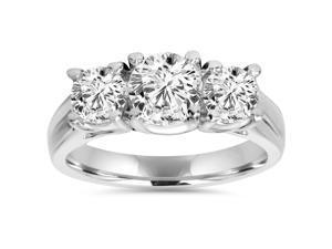 1 1/4ct Three Stone Diamond Ring Platinum