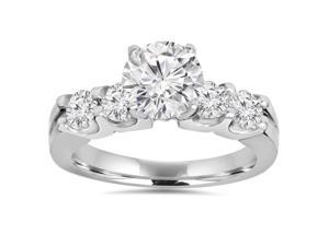 2.30Ct Round Brilliant Solitaire Enhanced Diamond Engagement Ring 14K White Gold