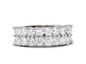 1 5/8ct Diamond Anniversary Wedding White Gold Ring 14K