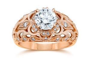 Emery .75Ct Vintage Diamond Antique Engagement 14K Rose Gold