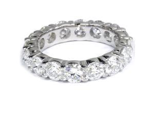 5 Carat Lab Created Diamond Eternity Ring Womens Wedding Band 14K White Gold