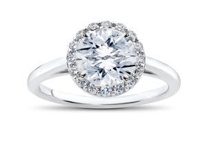 1 3/4 ct Lab Grown Eco Friendly Halo Diamond Madelyn Halo Engagement Ring 14k