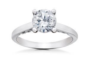 1 1/2 ct Lab Grown Eco Friendly Diamond Gabriella Engagement Ring 14k White Gold