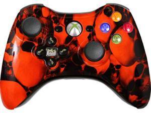 Custom Xbox 360 Controller: Xtreme Orange Skullz With Evil D-Pad