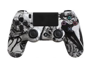 PlayStation 4 Dualshock 4 - Custom PS4 Controller with White Nightmare Shell
