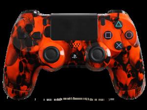 PlayStation 4 Dualshock 4 - Custom PS4 Controller with Orange Skullz Shell