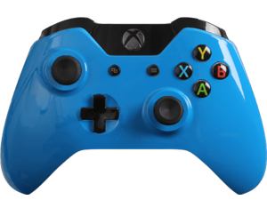 Custom Xbox One Controller Special Edition Glossy Blue Controller