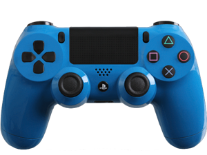 Custom PS4 Controller with Glossy Blue Shell