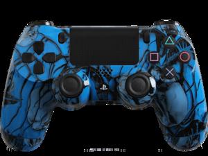 Custom PlayStation 4 Controller Special Edition Blue Nightmare Controller