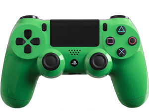 Custom PS4 Controller with Glossy Green Shell