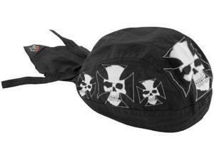Zan Headgear Flydanna Headwrap  Iron Cross Skull