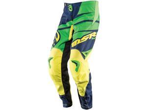 MSR Axxis 2015 Youth MX Pant Blue/Green/Yellow Y20