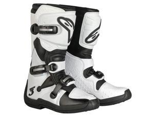 Alpinestars Stella Tech 3 Womens MX Boots White/Black 8 USA