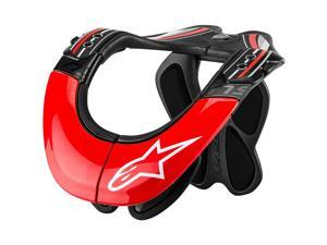 Alpinestars BNS Tech Carbon Neck Support Anthracite/Red/White XS/MD