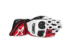 Alpinestars GP Tech Leather Gloves White/Red/Black SM
