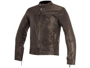 Alpinestars Brass Mens Leather Jacket Brown SM