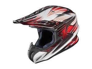 HJC RPHA-X Factor MX/Offroad Helmet White/Black/Red MD