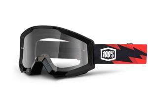 100% Strata 2013 MX/Offroad Clear Lens Goggles Slash