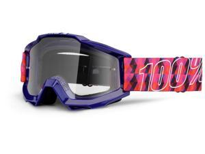 100% Accuri Youth Goggles Clear Lens Sultan - Pink/Purple Strap
