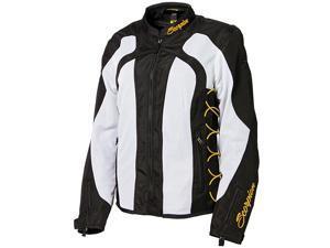 Scorpion Nip Tuck 2 Womens Textile Jacket White/Black/Gold LG