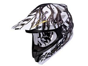 Scorpion VX-34 Oil MX/Offroad Helmet White/Black XS