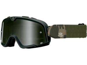 100% Barstow Legend MX/Offroad Goggles Black/Green/Camo One Size