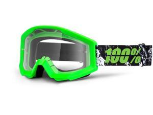 100% Strata 2013 MX/Offroad Clear Lens Goggles Crafty Lime