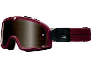100% Barstow Legend MX/Offroad Goggles Burgundy/Red/Black One Size