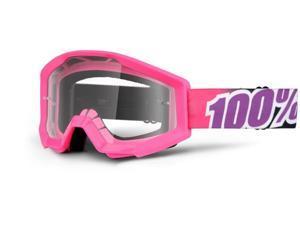 100% Strata 2013 MX/Offroad Clear Lens Goggles Bubble Gum