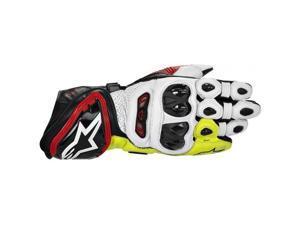 Alpinestars GP Tech Leather Gloves Black/Red/Fluo Yellow SM