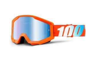 100% Strata MX Goggles Mirror Lens Orange/Blue