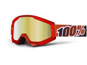 100% Strata MX Goggles Mirror Lens Red/Red