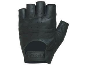 Castle Streetwear Gel Fingerless Leather Gloves Black MD